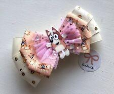 Baby/Girls/ Toddlers Handmade Super Cute Bluey / Bingo / Dog Hair Bow Clip