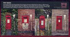GB 2009 POST BOXES MINIATURE SHEET MNH