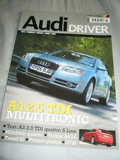 Audi Driver Aug 2005 A3 2.0 TDi quattro S Line, A4 1.6, A4 2.5 TDi Multitronic