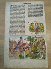 Schedel Weltchronik 1493 Amazonen Kreta Sizilien deutsch Inkunabel Blatt XIX