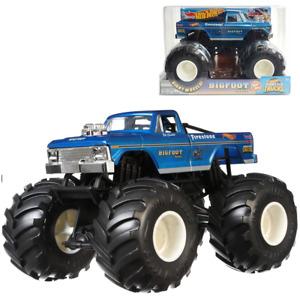 "Hot Wheels 1:24 Scale Original Blue ""BIG FOOT"" Monster Trucks 4x4x4 GBV32"
