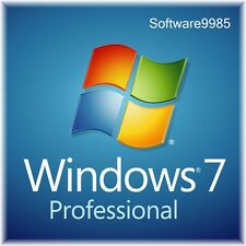 ORIGINAL WINDOWS 7 PRO 32 / 64BIT  GENUINE LICENSE KEY SCRAP PC
