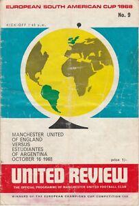Manchester United v Estudiantes. European S.American 2nd Leg. 16, October, 1968