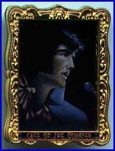 """Hard Rock Cafe """"CAFE OF THE QUARTER"""" Elvis Presley STAFF PIN Framed Painting"""