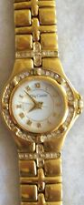 Lovely Womens Goldtone & Rhinestone Small Oleg Cassini Watch