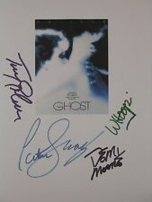 Ghost Signed Film Script X4 Whoopi Patrick Swayze Demi Moore Tony Goldwyn reprnt