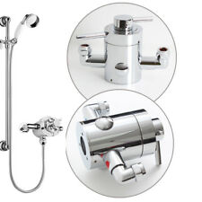 Concentric Round Thermostatic Exposed Bath Shower Mixer Valve TMV2 WRAS Brass UK