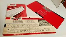MAGNETICS INC.Tape Wound Core SLIDE RULE CALCULATOR Cover & Instructions 1967