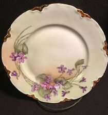 Vintage Floral Hand Painted Hutschenreuther Plate, Bavaria Germany
