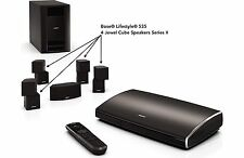 BOSE 4 BLACK JEWEL CUBE SERIES II SPEAKERS & CABLES LIFESTYLE SOUNDTOUCH 535 NIB