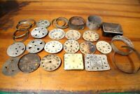 ANTIQUE ALARM CLOCK BODY PARTS REPAIR WESTCLOX WAR ALARM BINGO SALUTE ETC VTG