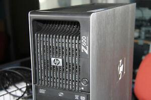 HP Workstation Z600 2x Xeon X5570 2.93GHz 8-CORE 12GB RAM 500GB SATA NVS295 WIFI