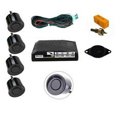 Black 4 Point Rear Reverse Parking Sensor Kit with Speaker 12v - Hyundai i10 i20