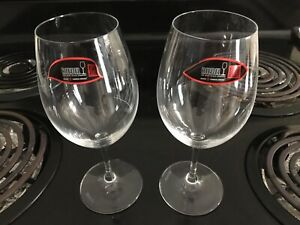 2 Riedel Ouverture Crystal Red Wine Glasses (Restaurant Quality)