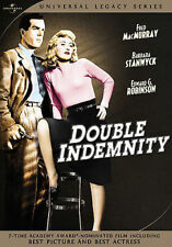 Double Indemnity Universal 2-Disc Dvd R1 Fred McMurray Stanwyck New 1944