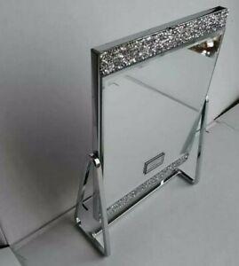 New Crushed Diamond Glass Jewel Folding Face Mirror