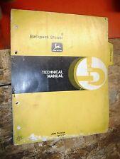 John Deere 4 Backpack Blower Factory Technical Service Catalog Manual Tm 1210