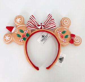 2020 Christmas Gingerbread Minnie Ears Bow Girl Holiday Disney Parks Headband