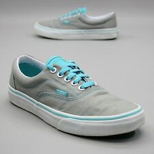 VANS Off the Wall Ladies 8.5 (Men's 7) Gray Blue Era Skater Skateboard Sneakers