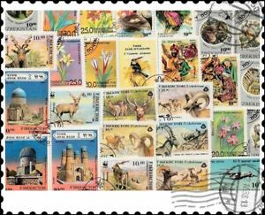 Ouzbékistan : 25 timbres différents