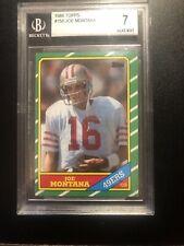 1986 Topps BGS 7 Joe Montana