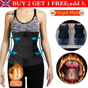 UK Waist Trainer Cincher Sauna Sweat Belt Sport Body Shaper Men Women Slimming