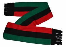 """MM Red Black and Green Pan-african Flag Inspired Scarf 8""""*80"""""""