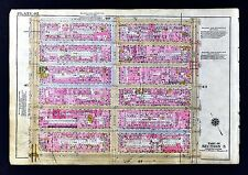 1921 Bromley New York City Map Chelsea Steamer Docks 7th-11th Avenues 14-20th