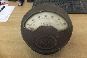 gec dynamo generating set switchboard amp meter 0-60 amperes vintage antique
