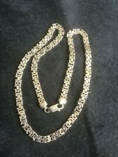 """Solid silver Byzantine link necklace 20""""                       A6607"""