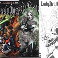 LADY DEATH DAMNATION GAME #1 LOT OF 3 INCENTIVE, TEMPTRESS, ORIGINAL