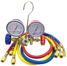 R12 R22 R502 Manifold Gauge Set HVAC AC Refrigeration Test w/6ft Charging Hoses