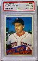 ROGER CLEMENS ROOKIE CARD 1985 TOPPS  PSA GRADED NM-MINT BOSTON RED SOX