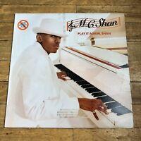"""MC Shan – """"Play It Again, Shan"""" LP VG+ old school Hip-hop"""