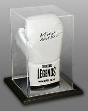 *New* Michael Watson Signed White Boxing Legends Glove In An Acrylic Case