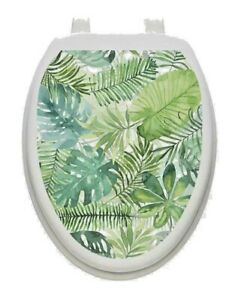 Toilet Tattoos PALM LEAVES  Toilet Lid Cover Vinyl Cover Removable 1160