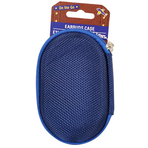 Mini Travel Portable Carrying Case for Earbuds, Earphones - Blue 6877