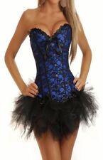 Sexy Lingerie Costume Lace overlay Corset Bustier Top + Pettiskirt Tutu's CB21