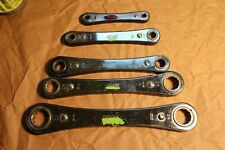 Collectible Double Box End Ratcheting Wrench Set