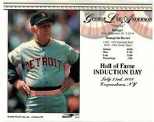 2000 HALL OF FAME INDUCTION SPARKY ANDERSON TIGERS