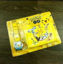 Pokemon  Children's Watch Wallet Set For Kids Boys Girls Christmas Gift