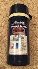 Vintage 1986 Aladdin's Pint Blue Thermo Bottle Cold Hot Beverages