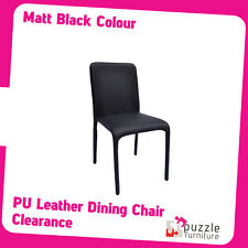 PU Leather Matt Black Cover- Dining Chair 0.86m tall - Brand New