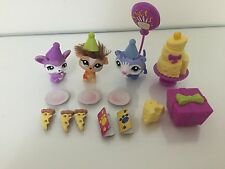 LPS LITTLEST PET SHOP CUTEST PETS GOODIES AND GIFTS PARTY SET #2488-2490 USED