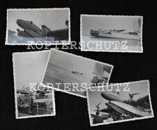 5 Original Fotos Lufthansa Flugzeug / Flugboot NORDWIND Schiff Friesenland