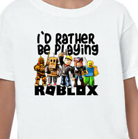 ROBLOX Kids T-Shirt Top Gift Birthday Boys Girls Men Gamer Gaming Funny V1