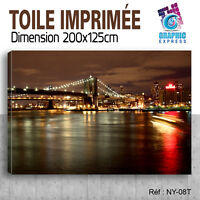 200x125cm - TOILE IMPRIMEE TAXI NEW YORK - TABLEAU DECORATION MURALE - NY-08T