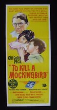 TO KILL A MOCKINGBIRD 1962 Orig Australian daybill movie poster Gregory Peck Lee