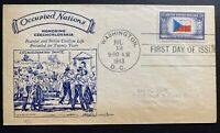 1943 Washington DC USA Patriotic Cover FDC Occupied Nation Honoring Czecholivakk