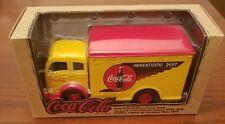 Vintage coca cola die cast delivery truck bank